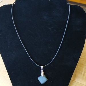 Handmade Glass Pendant w/ Chain